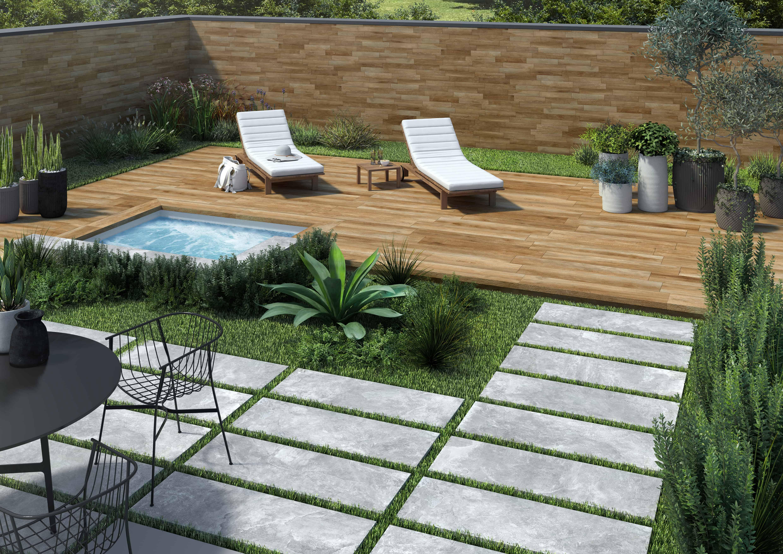 rondine ceramica outdoor 20mm tiles garden slabs flooring ardesie grey