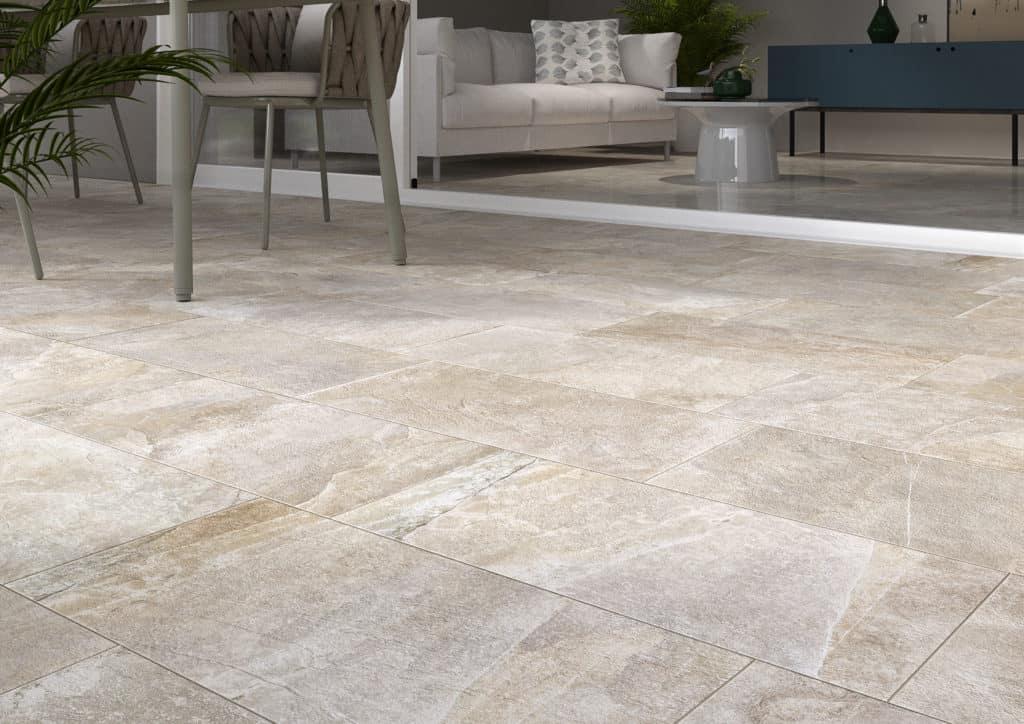 rondine ceramica ardesie h20 collection outdoor indoor floor tiles beige