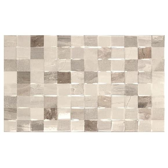 Atrium Kios Gris Glazed Porcelain Floor Tile: Atrium Kios Gris Cube Gloss Pattern Wall Tile
