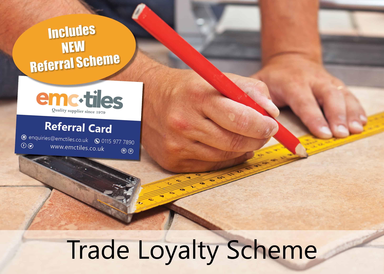 emc tiles trade loyalty scheme referral card sign up register