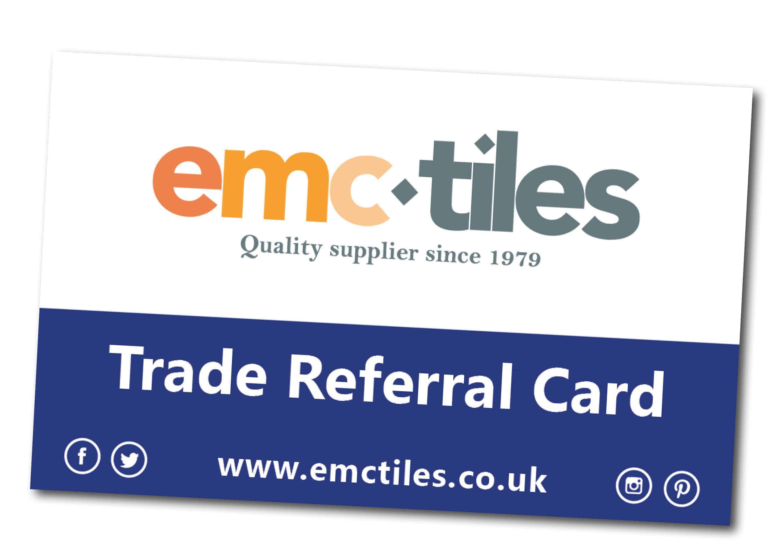 emc tiles trade referral card loyalty scheme