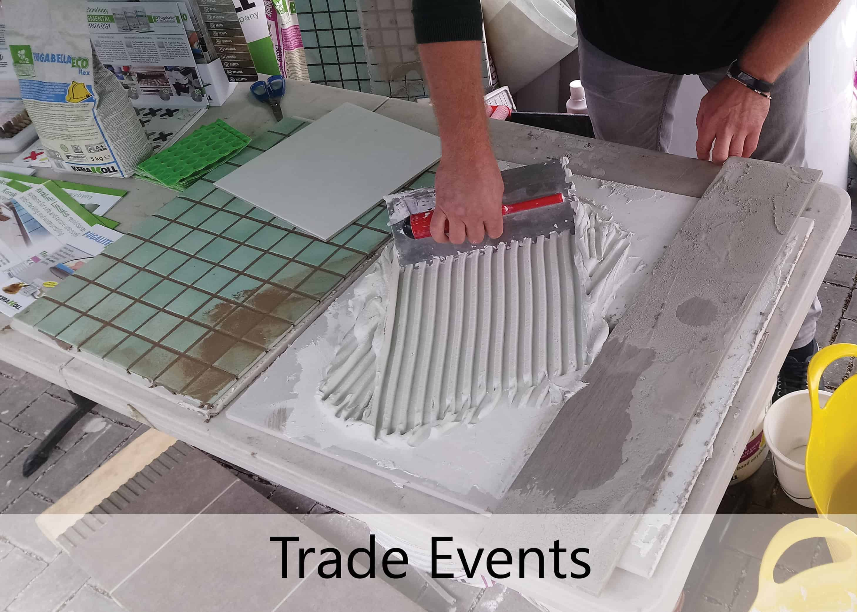 emc tiles trade events loughborough leicester nottingham derby