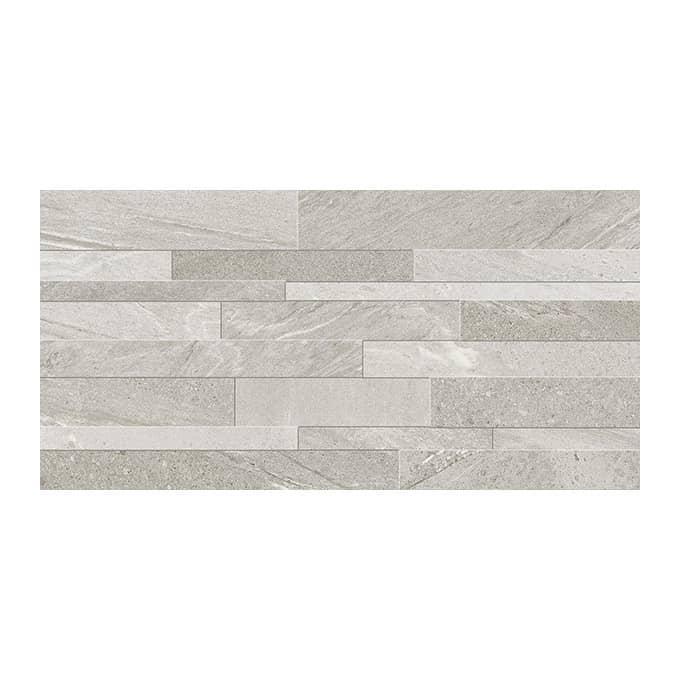 Stone Wave Grey Muretto Matt Textured Wall Tile - EMC Tiles