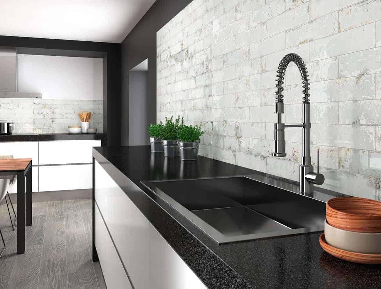 Grunge Iron Kitchen Wall Tile - EMC Tiles