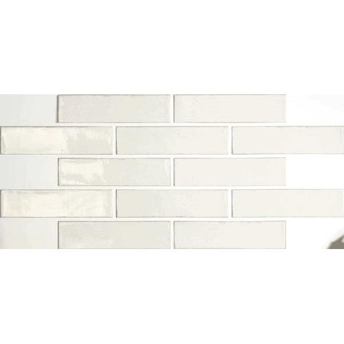 Altea White Gloss Brick Wall Tile 30x7 Emc Tiles