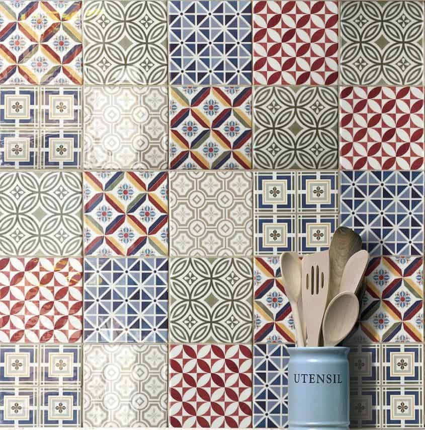 Country patchwork wall tiles patterns and metro plain wall tiles at EMC Tiles