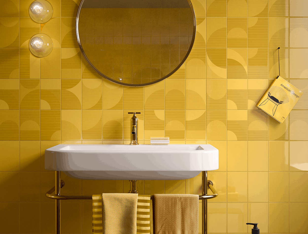 Let it bee patterned and plain wall tiles at EMC Tiles from Imola