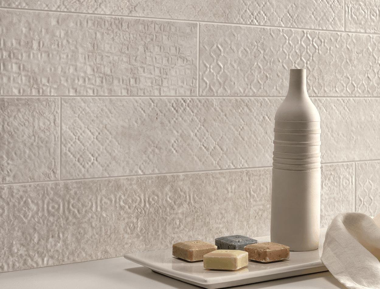 Stream textured 3d technology wall tiles at EMC Tiles