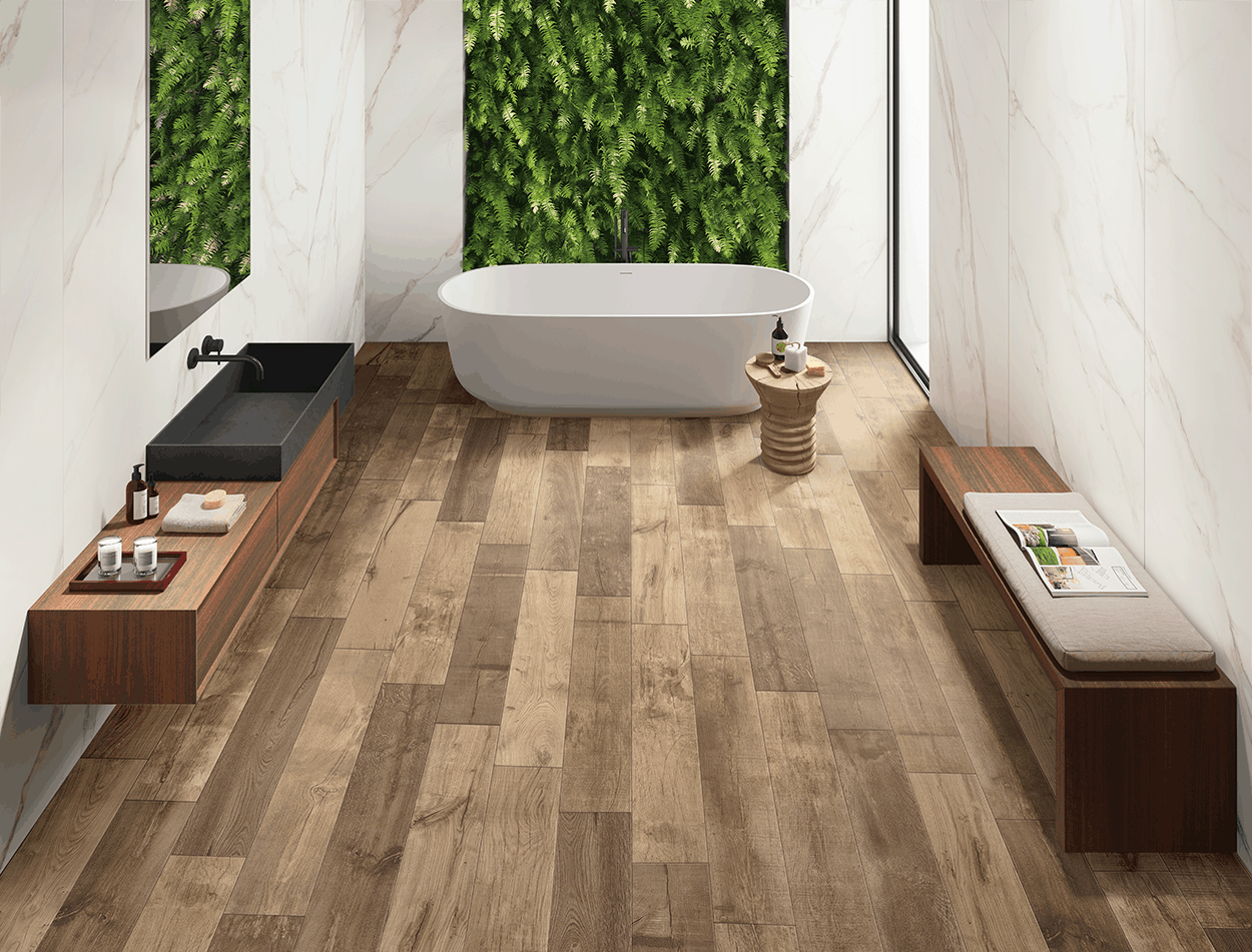 Jungle Beige Matt Wood Effect Floor Tile Emc Tiles