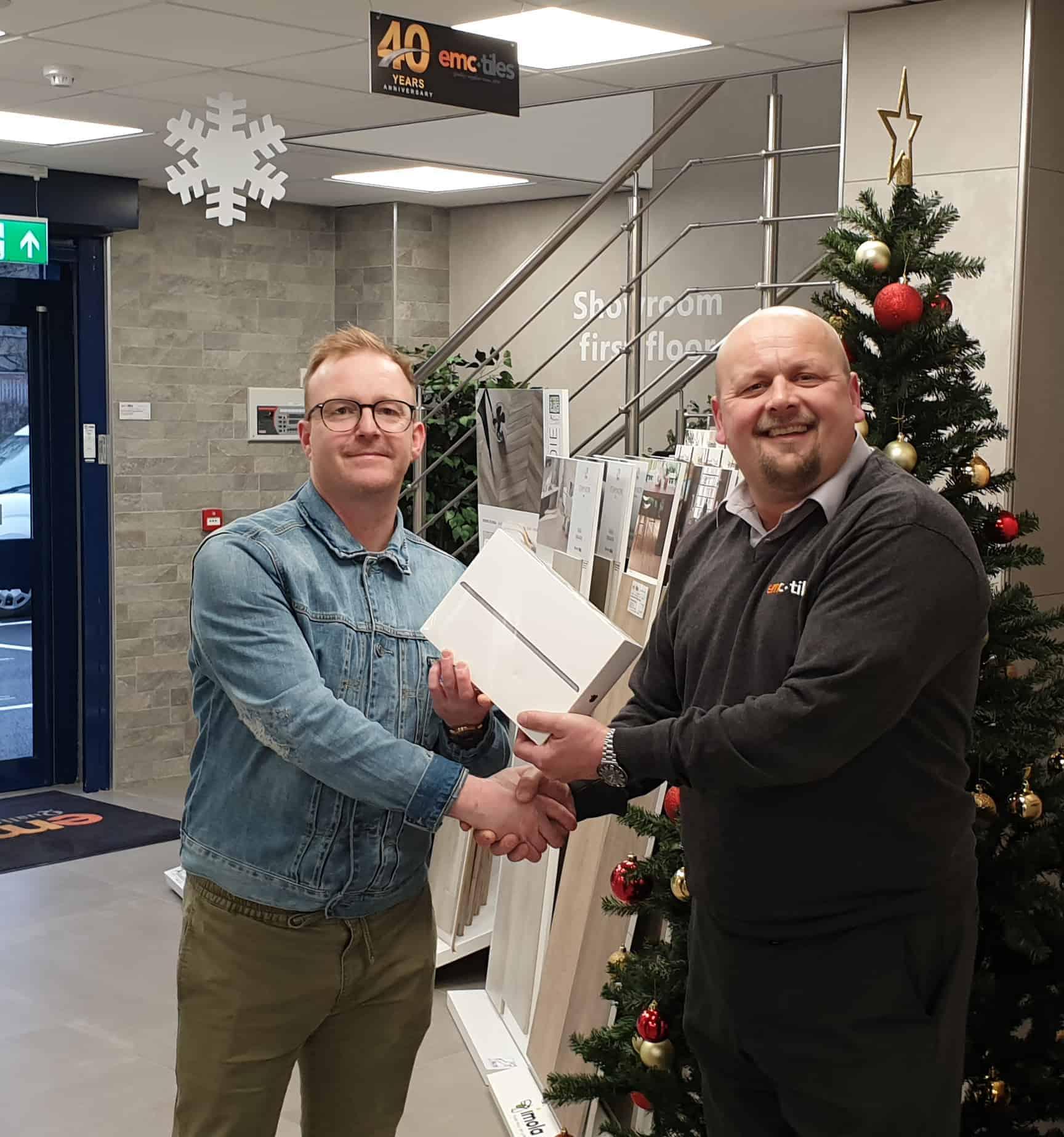 christmas charity raffle trade customer emc tiles 2019