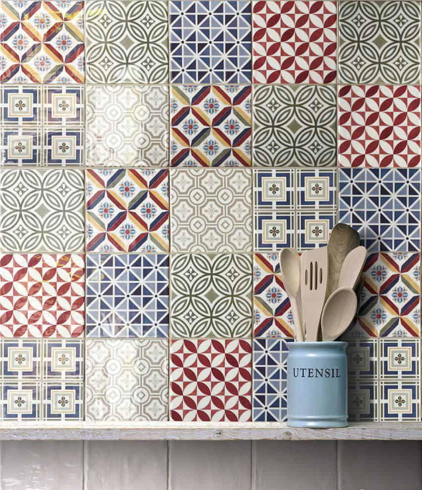 emc tiles patterned tiles geometric square wall tile