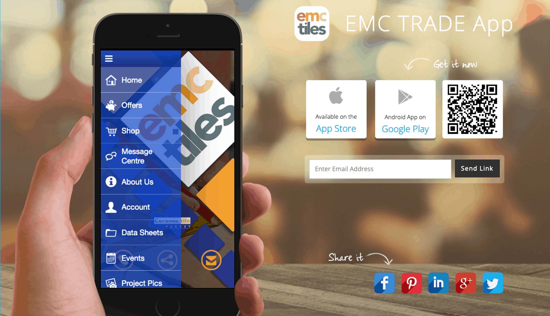 EMC Tiles Trade app