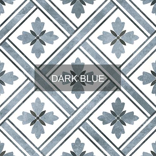 Heritage Dark Blue Matt Pattern Wall Floor Tile Emc Tiles