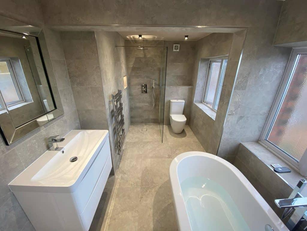 Simkin Home Improvemetns Stone Valley bathroom emc tiles