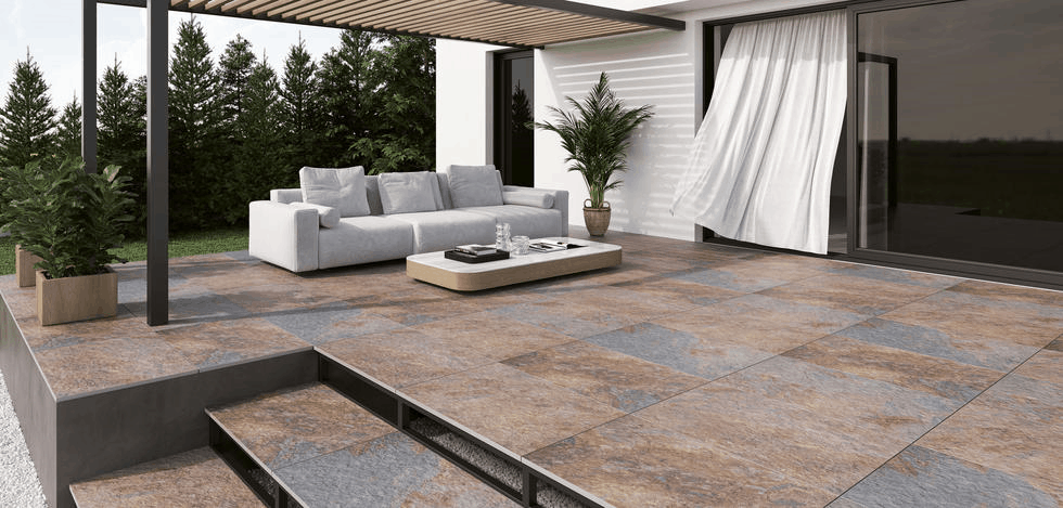 minster slate effect outdoor 20mm porcelain paving slab tiles