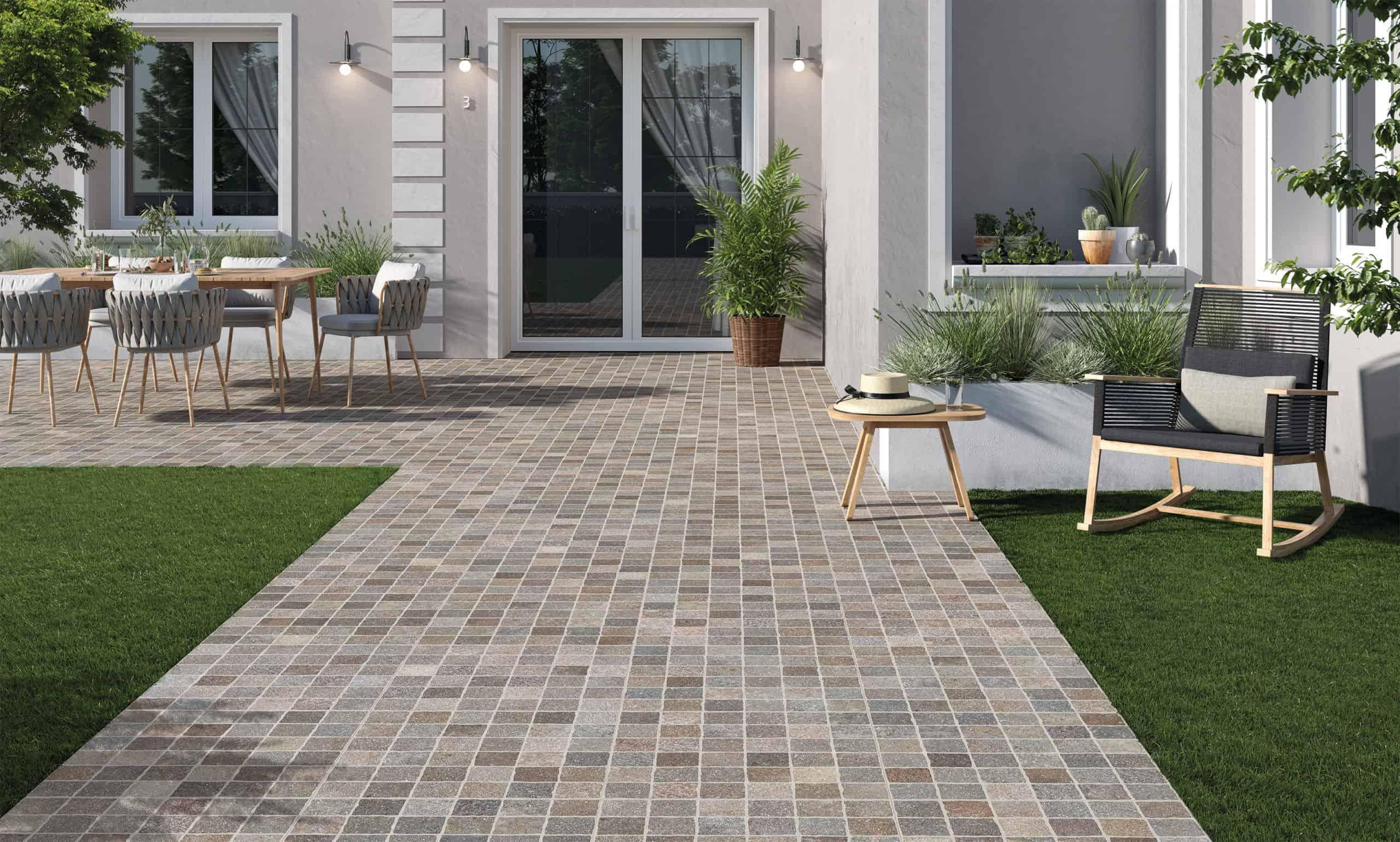 emc tiles aurelia outdoor 20mm porcelain tile range from Rondine ceramica