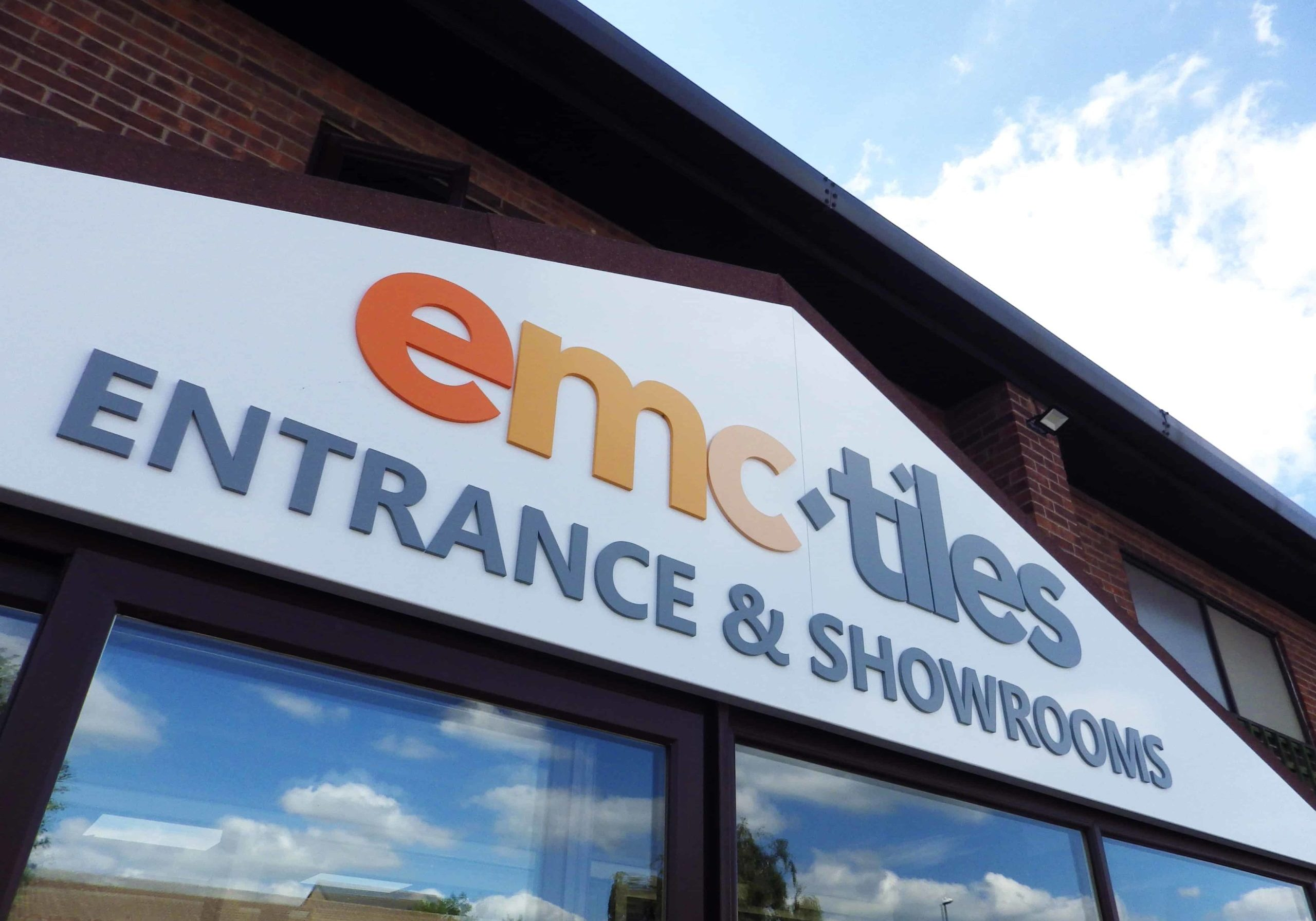EMC Tiles Nottingham entrance sign showroom